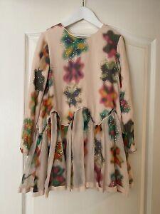 Chloé Girls Pastel Tones Designer Silk Dress size Age 6 (see Description)