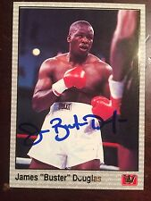 James Buster Douglas 1991 All World Boxing Signed VERY RARE Promo Card Tyson