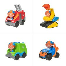 Blippi Lot of 4 vehicles: Excavator, Mobile, Fire & Garbage Truck New With Tags