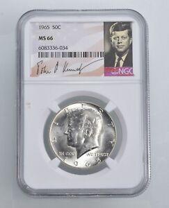 MS66 1965 - Kennedy Half Dollar Silver Graded NGC *439