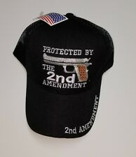 2nd Amendment Black Cap, Protected By 2nd Amendment