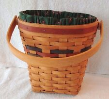 "Vintage 1993 Longaberger Woven Traditions 8"" Wall Basket Combo"