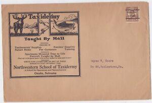 US PRECANCEL NORTHWEST SCHOOL OF TAXIDERMY AD COVER W/ CONTENTS COPYRIGHT 1905
