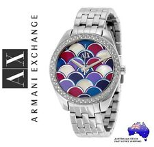 ARMANI EXCHANGE AX Ladies Multi-coloured SERENA Mosaic Watch - Boxed NEW $299