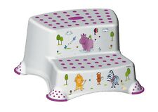 Hippo Friends Baby Unisex non-slip DOUBLE Step Stool - White