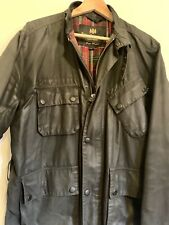 French Connection Mens Wax Jacket Barbour Style. Large.