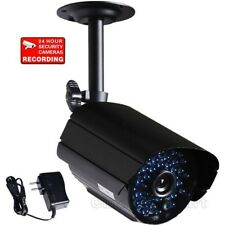Security Camera Outdoor 36 IR LED Day Night Vision 520TVL 6.0mm Len w/ Power wk4
