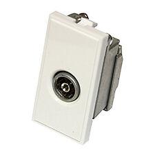 2 Triax Modular Faceplate Satellite Single IEC Female Insert Module White 304250