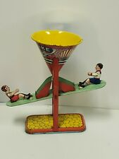 "Vintage J. Chein Tin Litho ""Busy Mike"" See Saw Sand Toy"