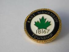 EAST WAWANOSH TOWNSHIP 1867 VINTAGE HAT VEST PIN ONTARIO CANADA SOUVENIR BUTTON