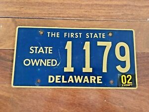 Delaware State Owned License Plate