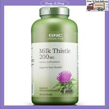 GNC Herbal Plus Milk Thistle 200 MG 300 Caps Exp 04/23 New