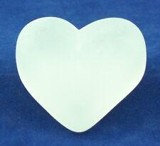 Dekoherz - Herz aus Glas in kristall satiniert - AE 249