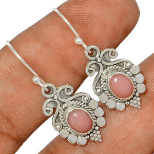 Rose Quartz - Madagascar 925 Sterling Silver Earring Jewelry BE57350 291H