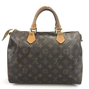 100% authentic Louis Vuitton Monogram Speedy 30 handbag M41526 Used 353-1-ac