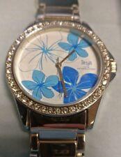Terrain TF-016L Stone Set White Face Floral Ladies design watch