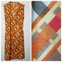 Vintage 70s Large Sleeveless Wrap Dress Selene Sport