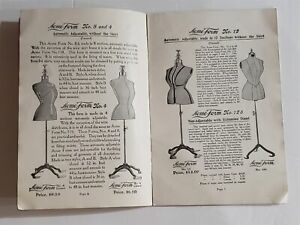 1920s antique ACME DRESS FORM CATALOG fashion sewing illustrated brooklyn ny L&M