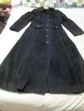 Vintage Ilie Wacs Long Black Wool Trench Coat AMAZING!!!