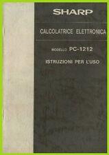 SHARP PC 1212 MANUALE istruzioni per l'uso calcolatrice elettronica