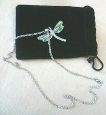 Paua Shell Mayfly Pendant Necklace Vintage Costume Jewellery - New Zealand
