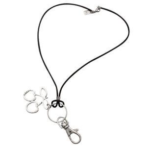 OFFICIAL Pacha Ibiza Cord Keyring Diamante Cherry Pendant White Black