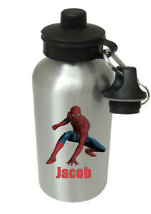Spider Man - Personalised Kids/Drinks/Sports Childrens Water Bottle