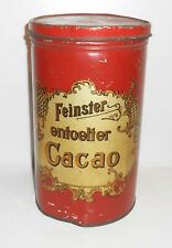 Alte Blechdose Feinster entoelter Cacao um 1910 Kolonial Vintage Deko Tin Box !