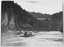 Vintage 1960 Poland Polish Countryside Splyw Dunajcem Rafting on River, hikers