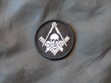 Widows Sons Skull Square Compass Patch Round Iron Sew Freemason Fraternity NEW!