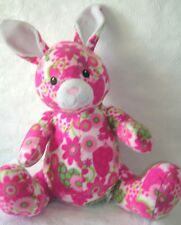 Melissa & Doug Bunny with Pink Hearts & Flowers Stuffed Plush Toy  21""