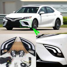 For Toyota Camry 2018 LED DRL Daytime Running Lights + Turning Signal+Fog lamp