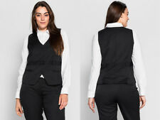 Sheego Smart Black Waistcoat With Fixed Waist Belt and Loops Size 20 R3