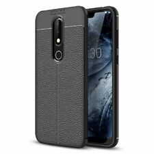 Hybrid Rubber TPU Leather Slim Back Cover Case For Nokia 2.1 3.1 5.1 6.1 7.1 8.1