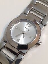 Lorus Ladies Designer Silver Tone Excellent Condition Working Quartz Watch