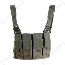 Olive Green Carrier Chest Rig Army Assault Vest Webbing Airsoft Military New