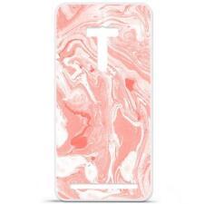 Coque Housse Etui Asus Zenfone Selfie (ZD551KL) Silicone Gel - Marbre rose