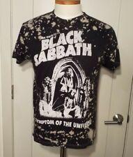"Black Sabbath ""Symptom Of The Universe"" Retro Style Bleached T-Shirt Size M"
