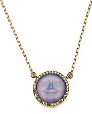 Kirks Folly Seaview Moon 18mm Dream Stone Necklace goldtone