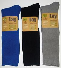 3 PAIRS MENS SZ 6-11 MIXED  LONG 95%  EXTRA THICK QUALITY BAMBOO WORK SOCKS