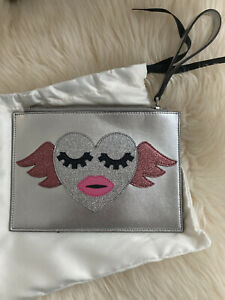 NWT 100% AUTH Gucci Borsa Kids Heartwing Wristlet Clutch Bag 432692 $498