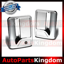 99-16 Ford Super Duty F250+F350+F450 Chrome 2 Door Handle w/o psg keyhole Cover
