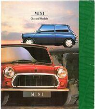 Rover Mini 1000 1992 UK Market Foldout Sales Brochure City & Mayfair