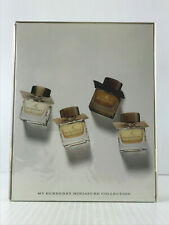 MY BURBERRY WOMEN 4PC MINI SET 2 EDP SPLASH + EDT + BLACK EDP .16 OZ EACH NIB