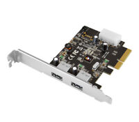 SIIG USB 3.1 2-Port PCIe 3.0 Host Adapter - Type-A, 10 Gb/s Data Transfer