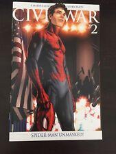 Civil War #2 2006 Marvel Steve McNiven Variant Cover NM- 9.2 Unread Spider-man