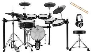 Elektronisches XDrum DD-650 PLUS Schlagzeug E-Drum Mesh Holzkessel Hocker Sticks