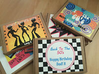 1 Personalised Decades Retro Sweet/Chocolate Box, Gift, Present for her/him
