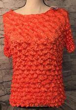 F C Magic Ladies Bubble Shirt Orange One Size NWT