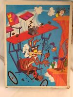 Vintage Looney Tunes Beep Beep The Road Runner Puzzle #4605-40 Complete